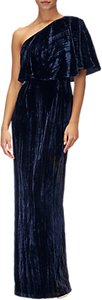 Read more about Adrianna papell plus size velvet one shoulder dress navy