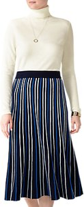 Read more about Pure collection stripe knitted midi skirt blue