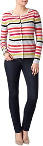 Read more about Pure collection crew neck cashmere jumper multi stripe