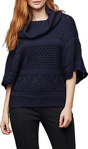Read more about East pointelle cowl jumper ink