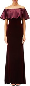 Read more about Adrianna papell off shoulder velvet dress dark wine