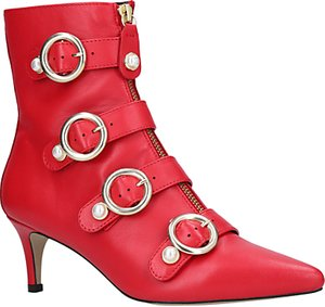 Read more about Carvela sparky kitten heel ankle boots red