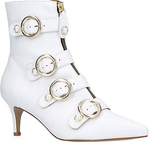 Read more about Carvela sparky kitten heel ankle boots white