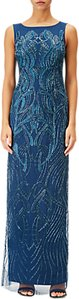 Read more about Adrianna papell petite beaded long dress deep blue