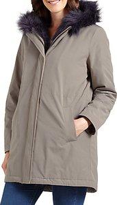Read more about Four seasons faux fur trimmed parka coat mole navy