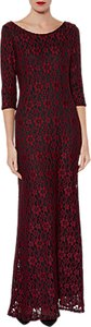 Read more about Gina bacconi lola floral lace maxi dress wine