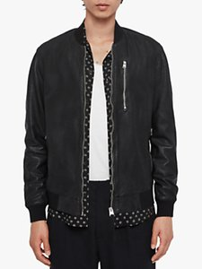 Read more about Allsaints kino leather bomber jacket black