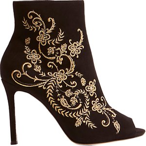 Read more about Karen millen embroidered shoe boots black suede
