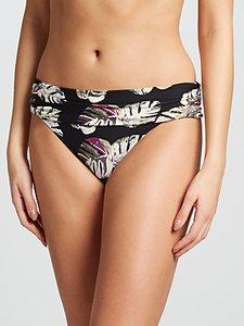 Read more about John lewis madagascar leaf print fold down bikini briefs black multi