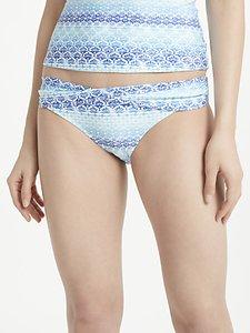 Read more about John lewis ombre tile print twist front bikini briefs blue