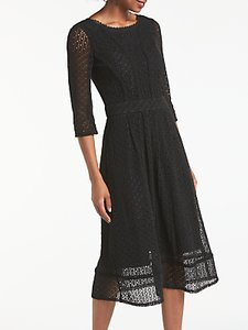 Read more about Boden prudence lace flared midi dress black