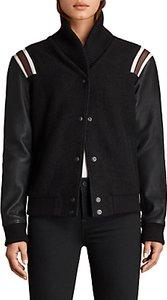 Read more about Allsaints bordin wool striped jacket black bordeaux