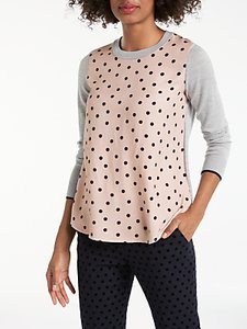 Read more about Boden vivian spotted jumper baby pink multi