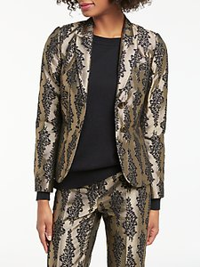 Read more about Boden jacquard party blazer pewter black