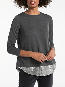 Read more about Boden lila sequin back jumper charcoal silver