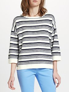 Read more about Collection weekend by john lewis pique stripe jumper white navy
