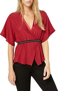 Read more about Damsel in a dress embellished blouse berry black