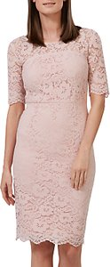 Read more about Sugarhill boutique devon fitted lace dress dusky pink