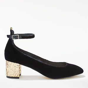 Read more about Boden catherine block heeled court shoes black