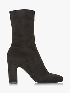 Read more about Dune black osborne stretch sock ankle boots black