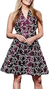 Read more about Yumi floral jacquard dress burgundy