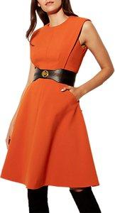 Read more about Karen millen panelled a-line dress orange
