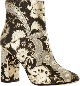 Read more about Ted baker ishbel block heeled ornate paisley ankle boot multi
