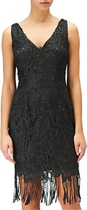 Read more about Adrianna papell guipure lace short dress black