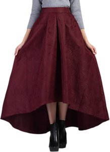 Read more about Jolie moi high low hem prom skirt burgundy