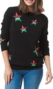 Read more about Sugarhill boutique rita stripe star jumper black multi