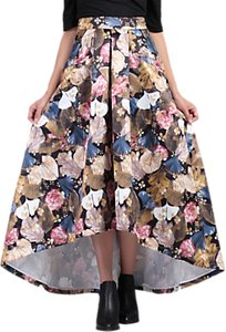Read more about Jolie moi high low hem floral prom skirt khaki pattern