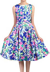 Read more about Jolie moi floral printed swing dress blue
