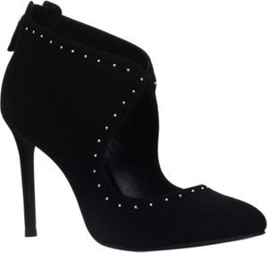 Read more about Kurt geiger dizzy stiletto heeled cut out shoe boots black