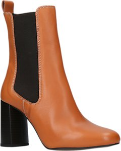 Read more about Kurt geiger damsel block heeled ankle chelsea boots tan