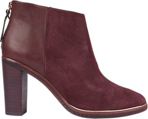Read more about Ted baker azaila block heeled ankle boots burgundy