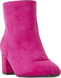 Read more about Dune olyvea block heeled ankle boots pink suede