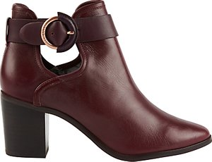 Read more about Ted baker sybell block heeled ankle boots burgundy