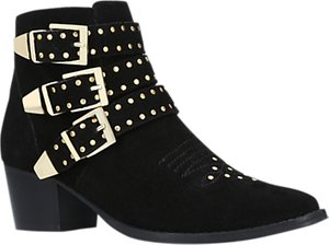 Read more about Miss kg tiger block heel ankle boots black