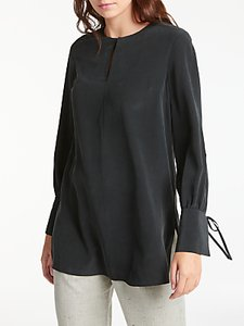 Read more about Modern rarity split sleeve silk blouse charcoal