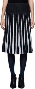 Read more about East merino pleat stripe skirt black white
