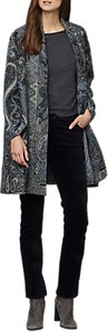Read more about East wool paisley blanket coat blue
