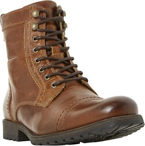Read more about Dune cowell toe cap lace-up boots tan