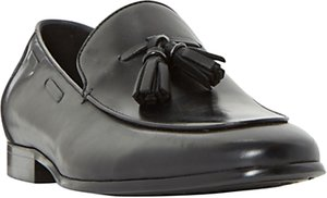 Read more about Dune preacher double tassel loafer shoes black
