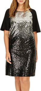 Read more about Studio 8 halle sequin embellished dress black silver