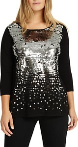Read more about Studio 8 eden embellished sequin jumper black silver