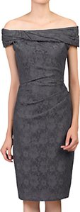 Read more about Jolie moi bardot neck lace occasion dress dark grey