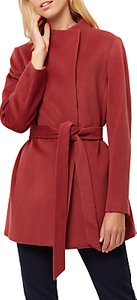 Read more about Jaeger wool funnel neck belted coat masala