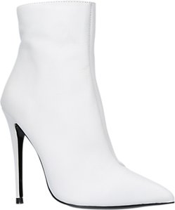 Read more about Kurt geiger ride high heel ankle boots white