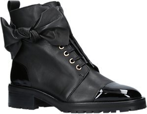 Read more about Kurt geiger daze bow trim lace up ankle boots black