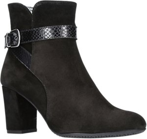 Read more about Carvela comfort rocky block heeled ankle boots black suede